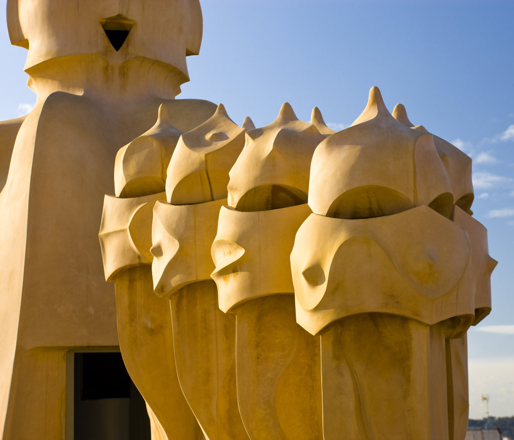 Spain, Catalonia, Barcelona, Casa Mila, : Stock Photo