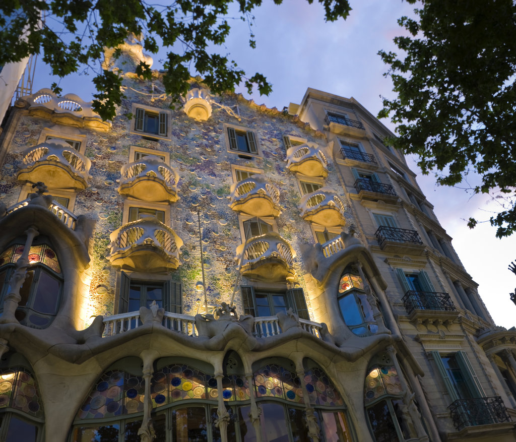 Stock Photo: 4026-218 Spain, Catalonia, Barcelona, Casa Batllo,