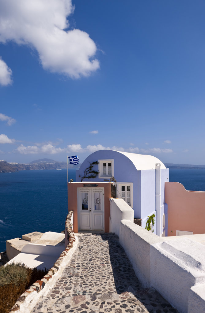 Greece, Cyclades, Santorini Island, Oia, Typical architecture : Stock Photo