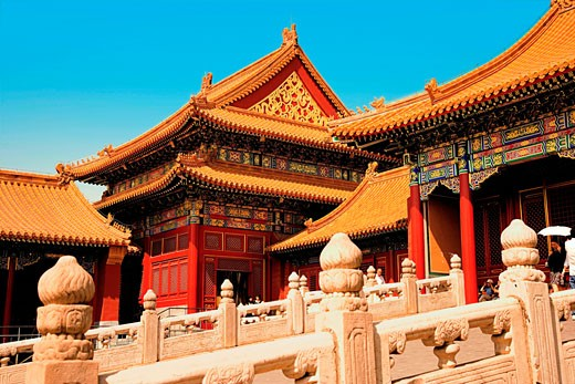 China, Beijing, Forbidden City, Hall of Supreme Harmony (TaiHeDian). : Stock Photo