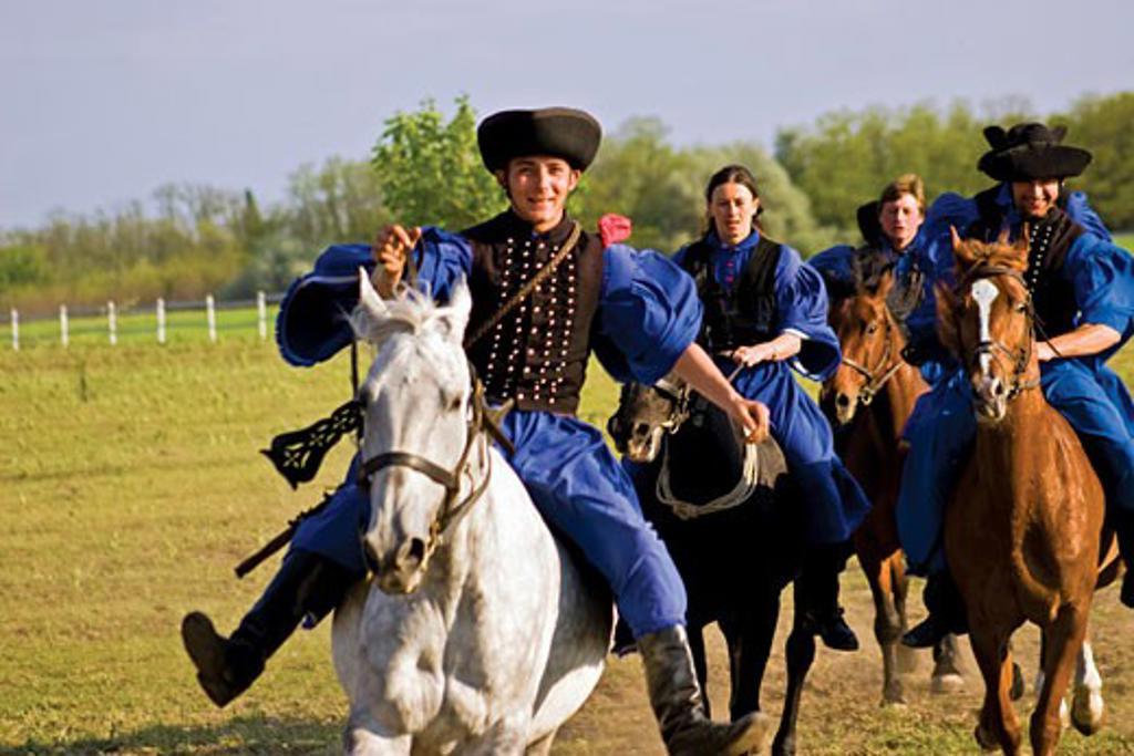 Stock Photo: 4028-1088 Hungary, Kalocsa, Csikos Hungarian horse riders.
