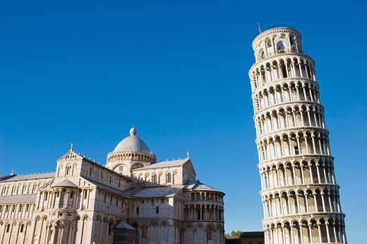 Pisa, Italy, Tuscany, Piazza dei Miracoli, Duomo Cathedral, the Leaning Tower of Pisa. : Stock Photo