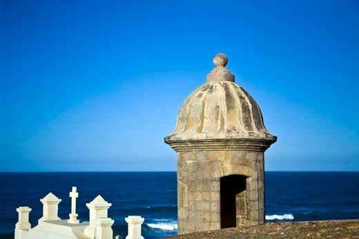 El Morro fortress and Church. Old San Juan. Puerto Rico. : Stock Photo
