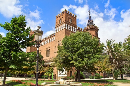 Barcelona, Catalonia, Spain, exterior of the Castell dells Tres Dragons (Castle of the three dragons) : Stock Photo