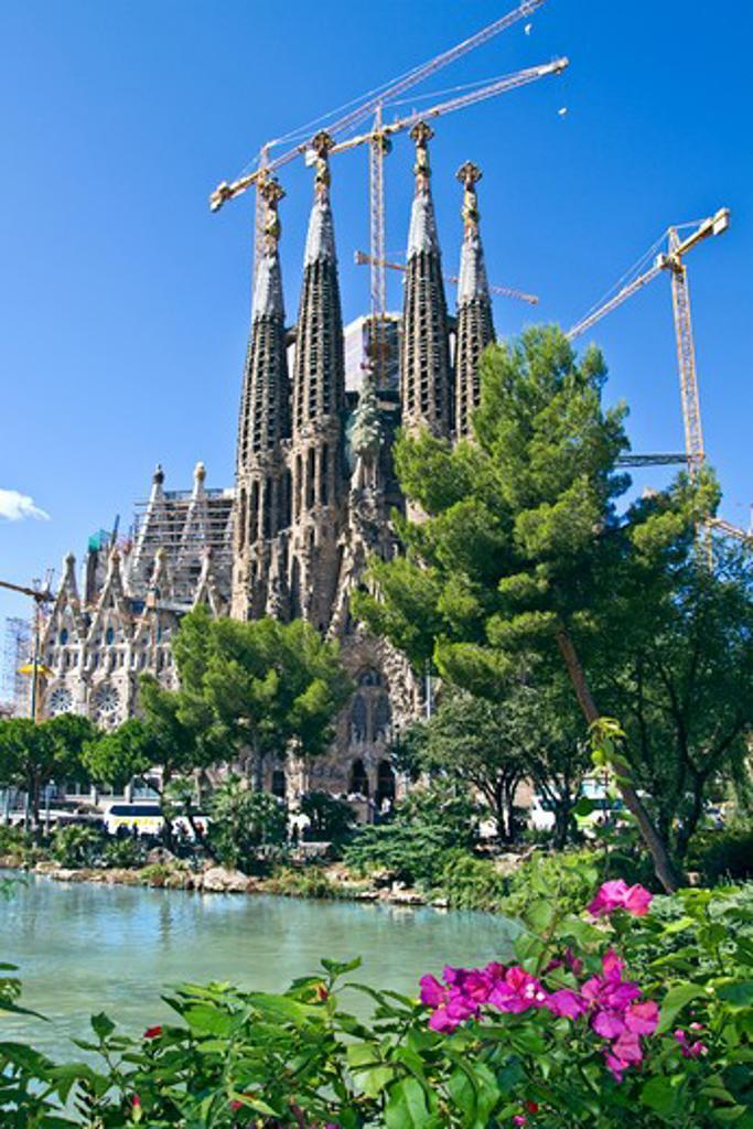 Stock Photo: 4028-2313 Spain, Catalonia, Barcelona, Sagrada Familia, Nativity facade (Gaudi architect)