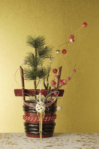 Stock Photo: 4029R-100896 Kadomatsu decoration