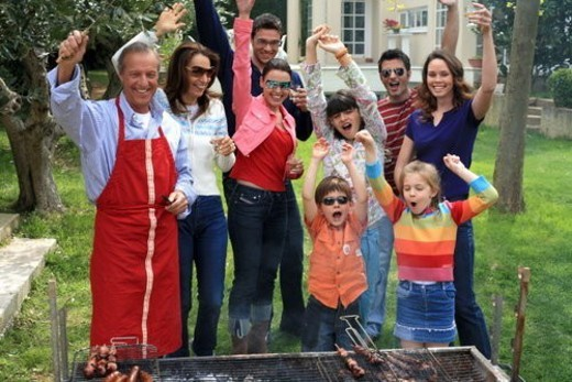 Stock Photo: 4029R-104370 Family barbecue