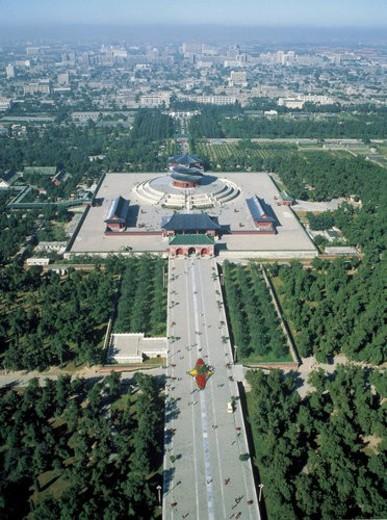 Overlook of Hall of Prayer for Good Harvests, Beijing : Stock Photo