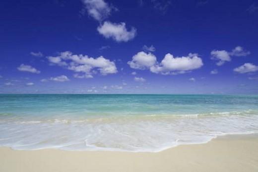 Stock Photo: 4029R-104550 Beach scene, Hawaii