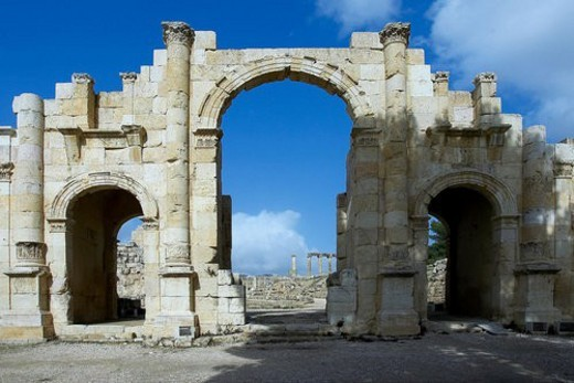 South, Gate, Jordan, jordan, Jerash, jerash, roman : Stock Photo
