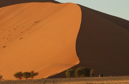 Sand Dunes of Sossusvlei - Namib desert, Namibia : Stock Photo