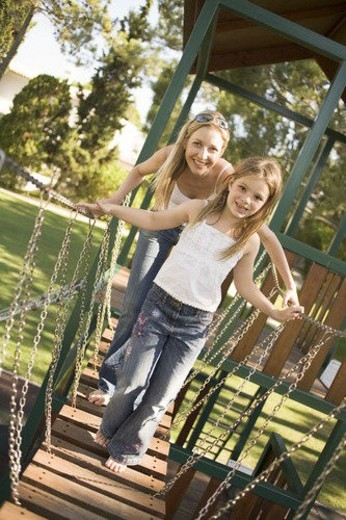 Mother and daughter in Park : Stock Photo