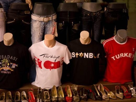 Stock Photo: 4029R-112012 Display at Turkish Market in Kusadasi