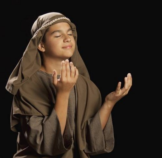 Stock Photo: 4029R-113949 boy portraying a young jesus