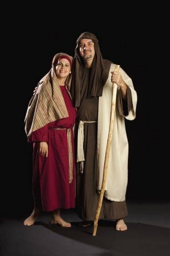 Stock Photo: 4029R-117340 people depicting mary and joseph