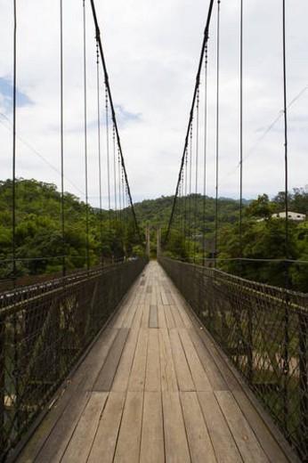 Stock Photo: 4029R-118846 Suspension Bridge, Shih Fen, Taiwan