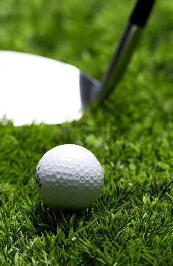 Stock Photo: 4029R-120393 golf ball, sports, sports equipment, golfclub, ball, driver, golf