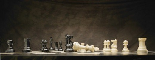 Stock Photo: 4029R-121898 A chess game