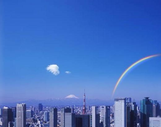Skyline of Tokyo , Honshu, Japan : Stock Photo
