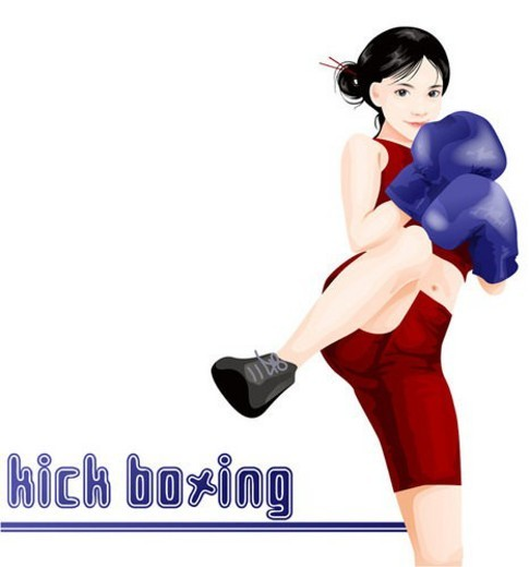 Stock Photo: 4029R-124718 vacation, women, travel, kickboxing, sports, leisure