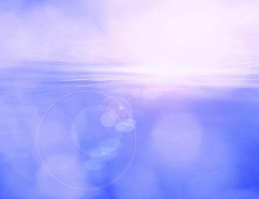 View of blue sky (digital composite) : Stock Photo