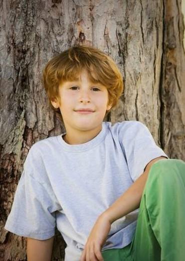 Stock Photo: 4029R-125279 Portrait Of A Boy