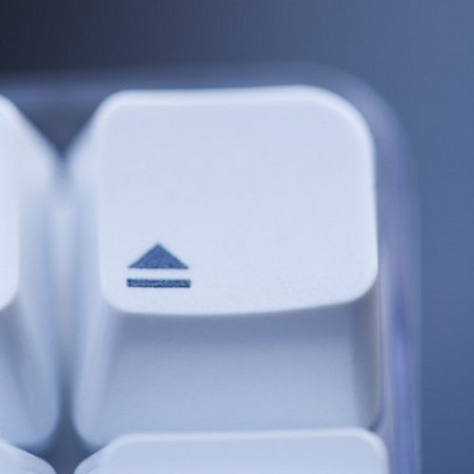 Close up of eject key on computer keyboard. : Stock Photo