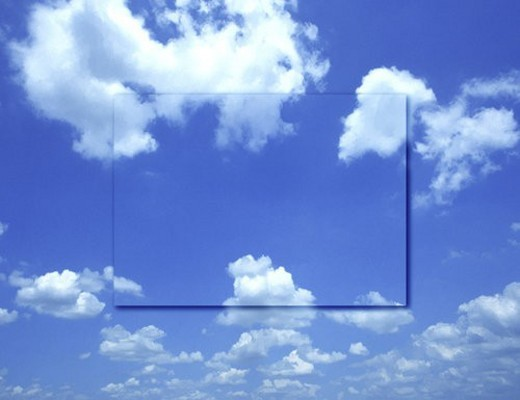 View of cloudy sky (digital composite) : Stock Photo