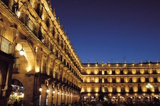 Spain, Castilla Leon, Salamanca, Square, Salamanca square, Main square, Plaza mayor : Stock Photo