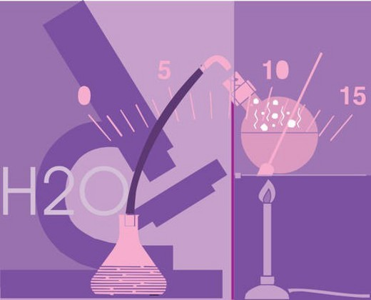 Stock Photo: 4029R-127961 Scientific equipment at science laboratory