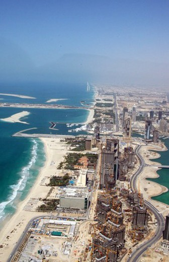 dubai, aerial, dubai, marina, port, plaisance, towers : Stock Photo