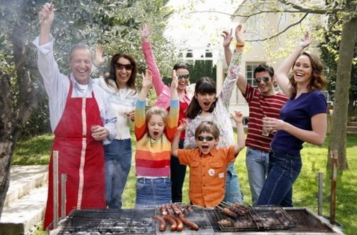 Family barbecue : Stock Photo