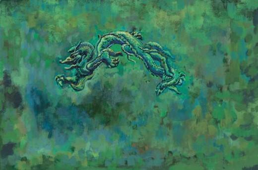 mythical, dragon, myth, tradition, painting, mythology, animal : Stock Photo