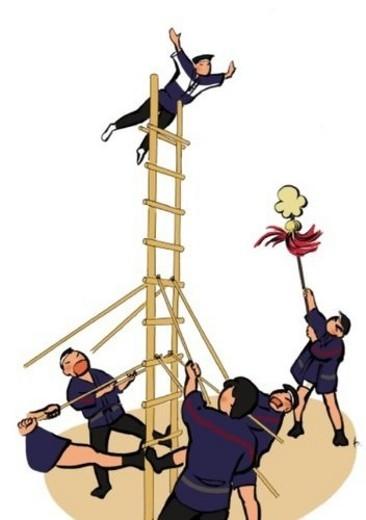 Annual Fire Brigade Review, Illustrative Technique : Stock Photo