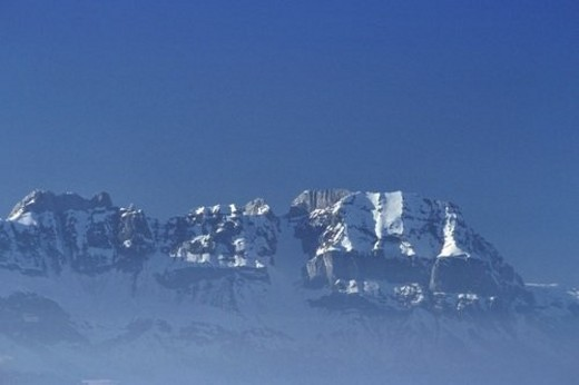 Stock Photo: 4029R-136116 mountain, mountainside, Landscape, Snow, range, chain