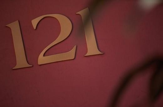 Door Number 121 : Stock Photo