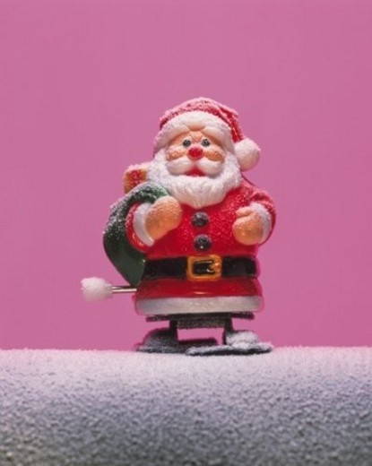 Toy Santa Claus, Front View : Stock Photo