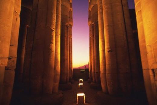 Columns, Egypt, Low Angle View : Stock Photo