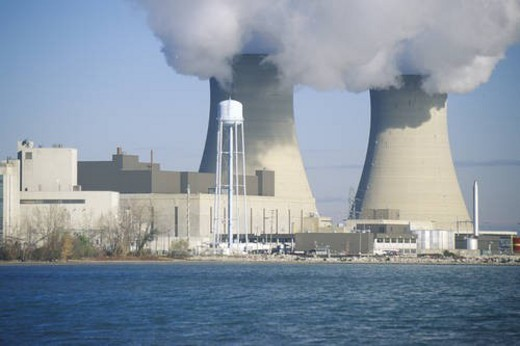 Two nuclear power plants : Stock Photo