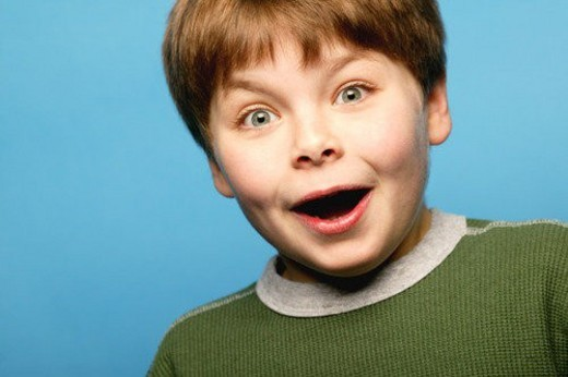 Surprised child : Stock Photo