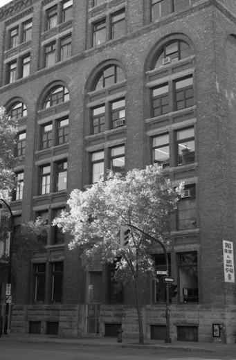 Black and White Photograph of Winnipeg classic architecture : Stock Photo
