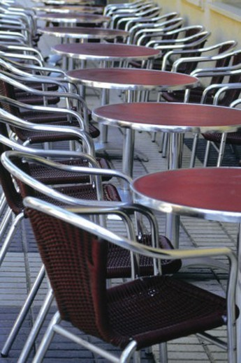 Stock Photo: 4029R-140377 Urban, Table, Tables, Chair, Chairs, Sidewalk cafe, Pavement cafe