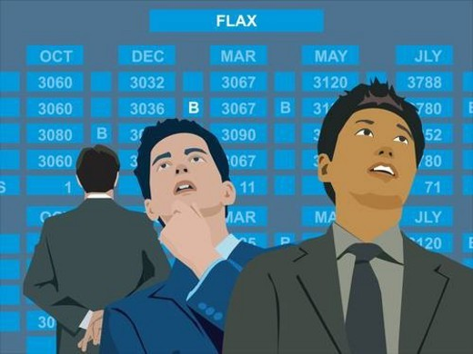 Businessmen at the stock exchange : Stock Photo