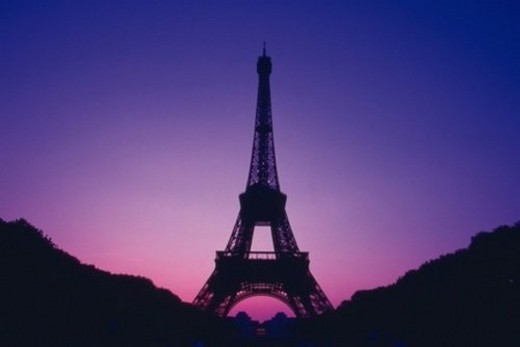 Stock Photo: 4029R-141135 Image of the Eiffel Tower By Sunset, Low Angle View, Paris, France