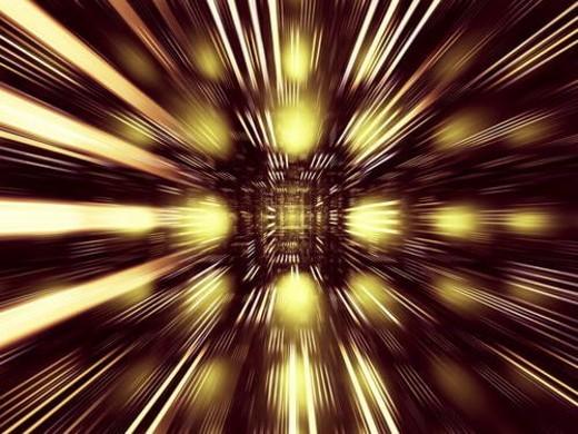 Flash of light, computer graphic : Stock Photo