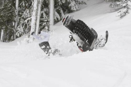 Stock Photo: 4029R-142384 snowmobile adventure tour in Whistler British Columbia