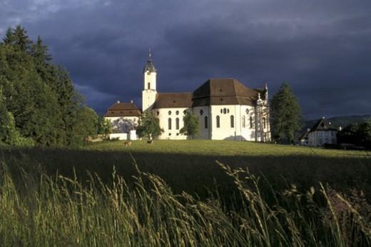 Stock Photo: 4029R-143589 wieskirche, architectural, architectural style, architecture, bavaria, Bavaria, Bavarian