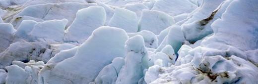 Exit Glacier at Harding Ice field, Kenai Mountains : Stock Photo