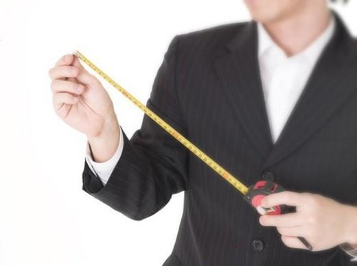 Stock Photo: 4029R-144675 mesuring, businessman, hand, body part, business suit, business