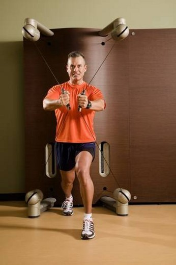 Stock Photo: 4029R-146360 Man working out